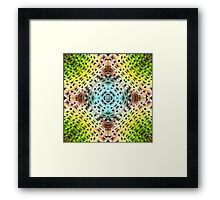 abstract shiny blue and green  Framed Print