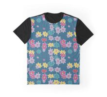 floral pattern with roses and bells, Graphic T-Shirt