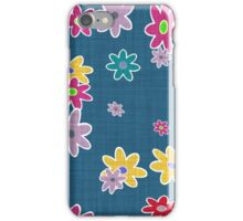 floral pattern with roses and bells, iPhone Case/Skin
