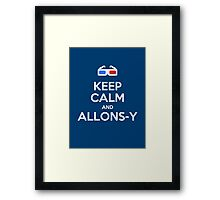 Keep calm and allons-y Framed Print
