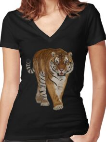 Tiger - After the Storm Women's Fitted V-Neck T-Shirt
