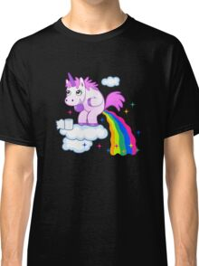 Unicorn Pup Rainbow In The Cloud Fun Pegasus Classic T-Shirt