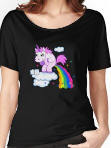 Unicorn Pup Rainbow In The Cloud Fun Pegasus Women's Relaxed Fit T-Shirt