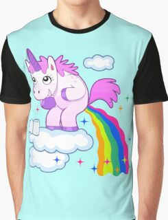 Unicorn Pup Rainbow In The Cloud Fun Pegasus Graphic T-Shirt