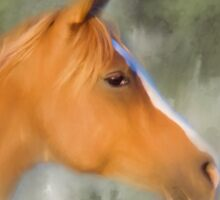 Inspiration - Horse art by Michelle Wrighton Sticker