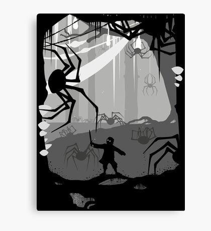 The Little Limbbit and the Spiders Canvas Print