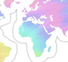 World Map - Pastel  Sticker
