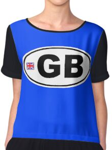 GB - GREAT BRITAIN - BUMPER STICKER Chiffon Top