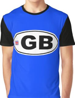 GB - GREAT BRITAIN - BUMPER STICKER Graphic T-Shirt