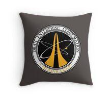 Moonraker - Drax Enterprise Corporation Throw Pillow