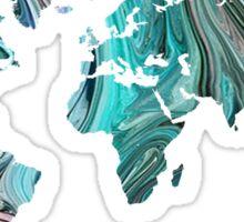 World Map - Trippy Sticker