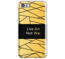 Gold Creation from our artistic  Atelier - gold and black Fractal Art. We bring Future in Fashion. iPhone Case/Skin
