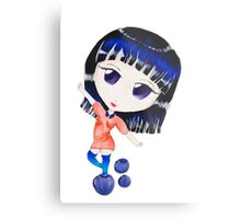 Blueberry Chibi Metal Print
