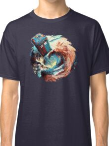 Time travel Phone box at Starry Dark Vortex Classic T-Shirt