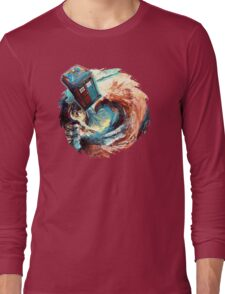 Time travel Phone box at Starry Dark Vortex Long Sleeve T-Shirt