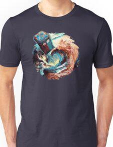 Time travel Phone box at Starry Dark Vortex Unisex T-Shirt