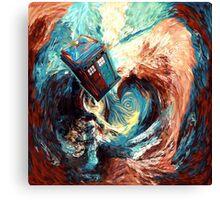 Time travel Phone box at Starry Dark Vortex Canvas Print