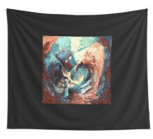 Time travel Phone box at Starry Dark Vortex Wall Tapestry