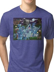 Grim Grinning Ghosts Tri-blend T-Shirt