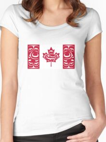 Haida Canada Flag Women's Fitted Scoop T-Shirt