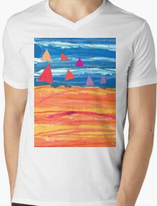 Sailing on a Sizzling Summer's Day Mens V-Neck T-Shirt