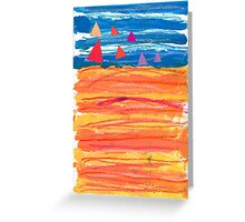 Sailing on a Sizzling Summer's Day Greeting Card