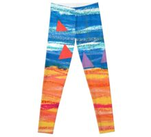 Sailing on a Sizzling Summer's Day Leggings