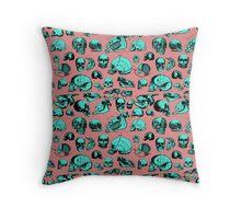 Skull Overload Pattern Throw Pillow