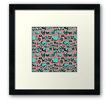 Skull Overload Pattern Framed Print