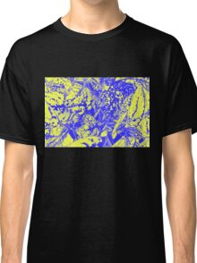Blue and Yellow Foliage Classic T-Shirt