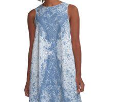 Step Crack Meeting Design (Riverside Color) A-Line Dress