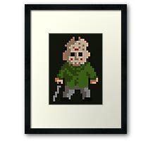 Pixel Jason Framed Print