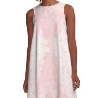 Step Crack Meeting Design (Rose Quartz Color) A-Line Dress