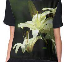 Lily White Elegance  Chiffon Top