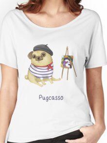 Pugcasso Women's Relaxed Fit T-Shirt