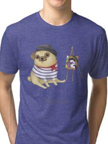 Pugcasso Tri-blend T-Shirt