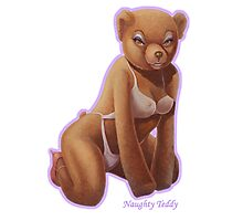 Naughty Teddy Photographic Print