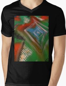 triangle Mens V-Neck T-Shirt