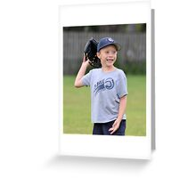 Happy T-Ball Player Greeting Card