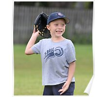 Happy T-Ball Player Poster