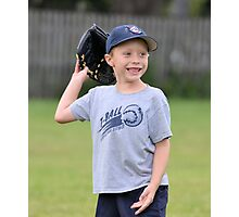 Happy T-Ball Player Photographic Print