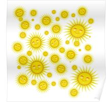 Many Happy faces- Sun Poster
