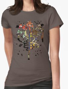 Slide Graffiti Tag - Colour Womens Fitted T-Shirt