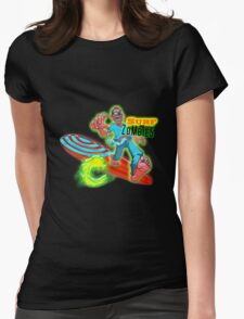 """""""Surf's Up"""" Surfing Zombie Brand Womens Fitted T-Shirt"""