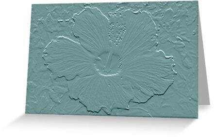 Hibiscus Embossed by AuntDot