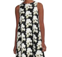 White Flowers A-Line Dress