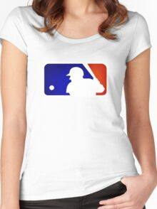 mlb logo Women's Fitted Scoop T-Shirt