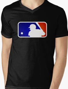 mlb logo Mens V-Neck T-Shirt