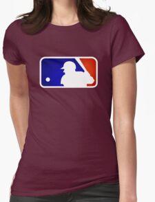 mlb logo Womens Fitted T-Shirt