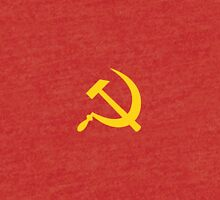 Yellow Hammer and Sickle  Tri-blend T-Shirt